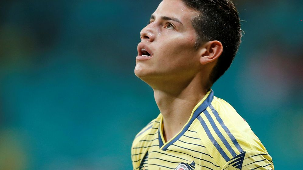 Photo: James Rodríguez, with the Colombian national team during the Copa América disputed in Brazil.  (EFE)