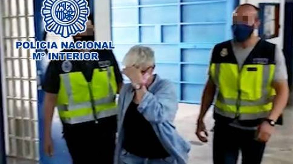 Foto: Detención de la integrante del grupo neofascista. (Policía Nacional)