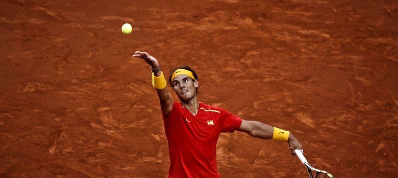 Foto: Nadal en la eliminatoria por la permanencia en el Grupo Mundial de la Copa Davis (Efe).