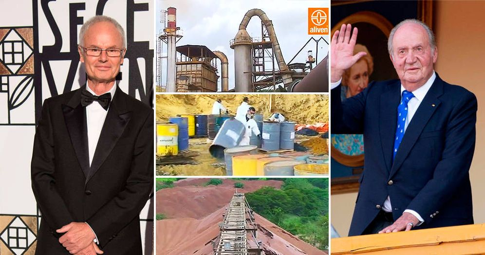 Foto: Álvaro de Orleans (i), fábrica de Aliven en Venezuela y Juan Carlos I. (Cordon Press/Aliven/EFE)
