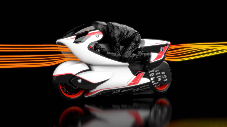 Foto: El agujero central de la moto eléctrica WMC250EV reduce en un 69% el record de resistencia al aire (WMC)