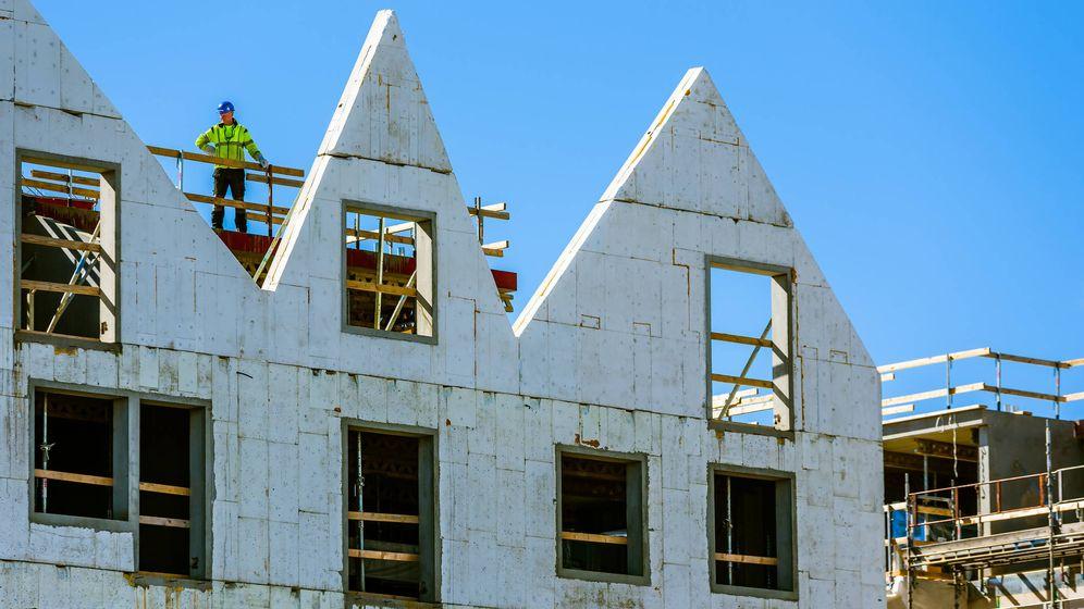 Foto: Empleado de la construcción en la ciudad de Kalmar. (iStock)