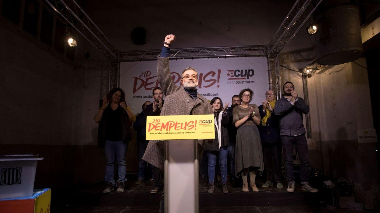 Carles Riera, durante su comparecencia para valorar los resultados del 21-D. (EFE)