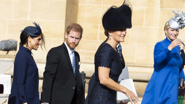 Meghan y Harry, en la boda de Eugenia de York. (Reuters)