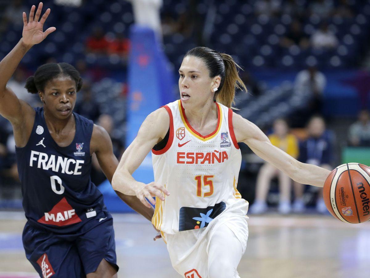 Foto: Anna Cruz, en una imagen del Eurobasket 2019. (Efe)