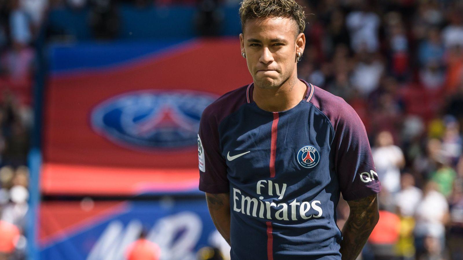 Foto: Neymar en su presentación. (EFE)