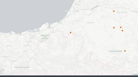 Esta es la ubicación de los zulos que ETA ha entregado a las autoridades francesas
