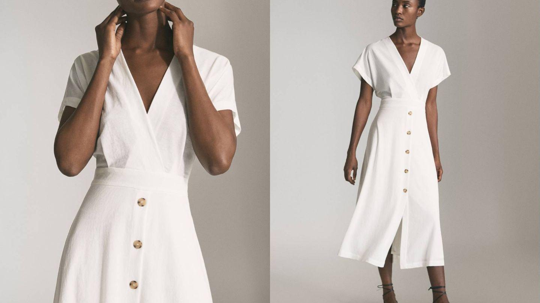 El vestido de Massimo Dutti para triunfar en la playa o en la oficina. (Cortesía)