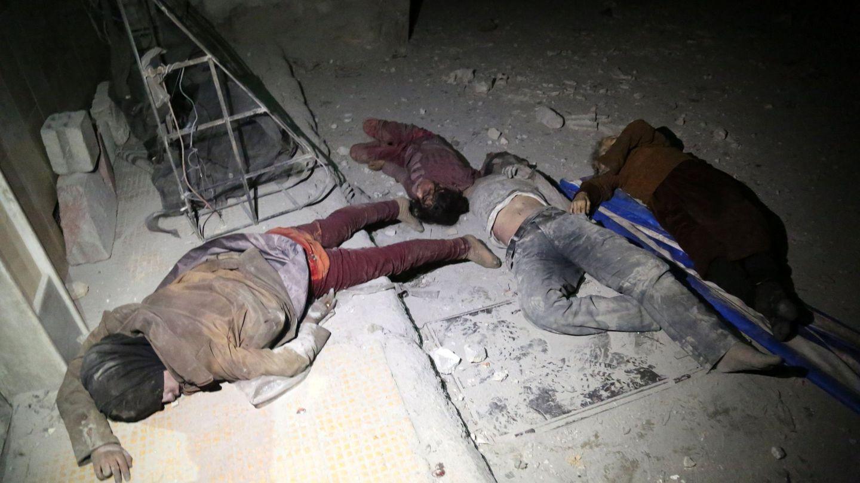 Muertos en un presunto ataque químico en Duma, Siria, el 7 de abril de 2018. (EFE)
