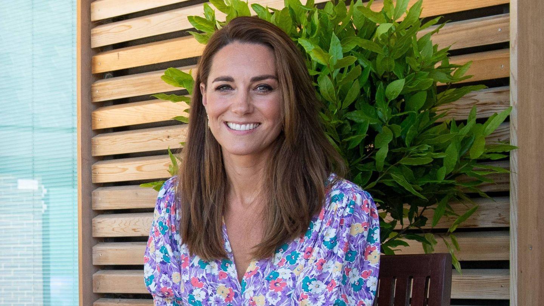 Kate Middleton, antes de cortarse el pelo. (Cordon Press)