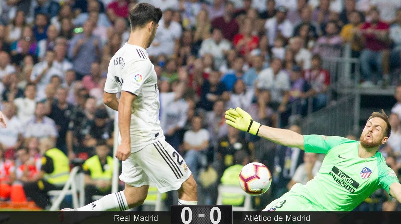 Foto: Marco Asensio falló un claro mano a mano ante Oblak. (Miguel J. Berrocal)