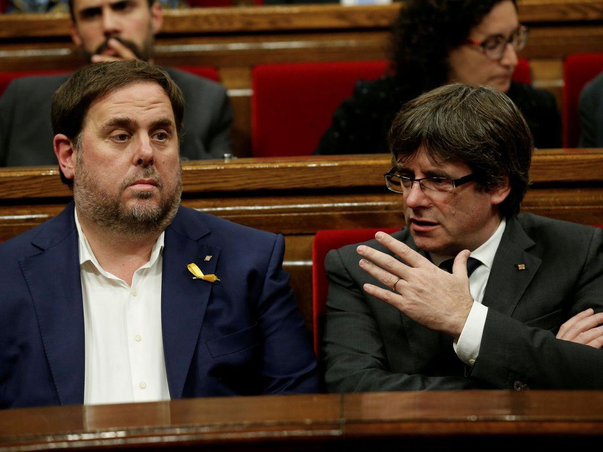 Foto: Junqueras y Puigdemont, en una imagen de archivo. (Reuters)
