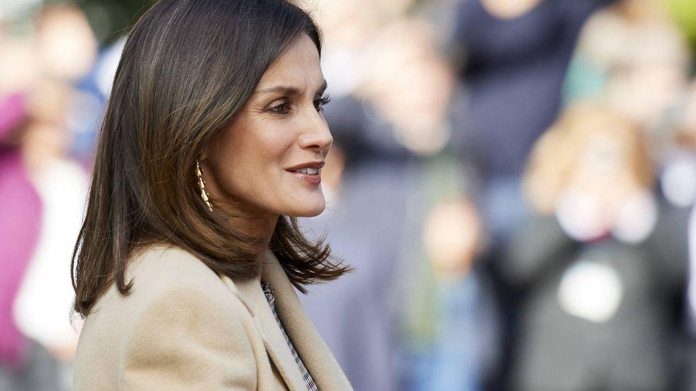 Foto: La Reina a su llegada al Prado. (Getty)