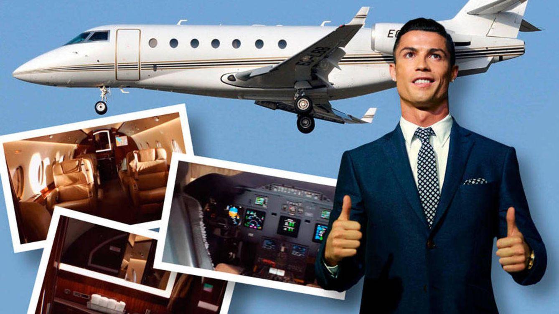 Foto: Cristiano Ronaldo y su jet en un fotomontaje realizado en Vanitatis