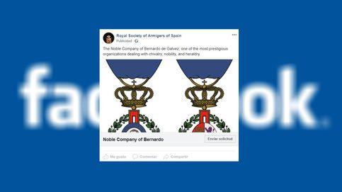 La sociedad heráldica española que aparece en los archivos publicitarios de Facebook