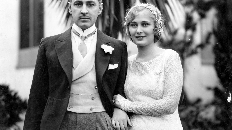 John Barrymore con su primera mujer, Dolores Costello. (Getty)