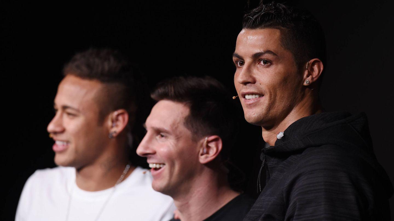 Neymar, Messi y Ronaldo. (Getty)
