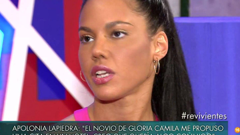 Apolonia Lapiedra en un programa de televisión. (Telecinco)