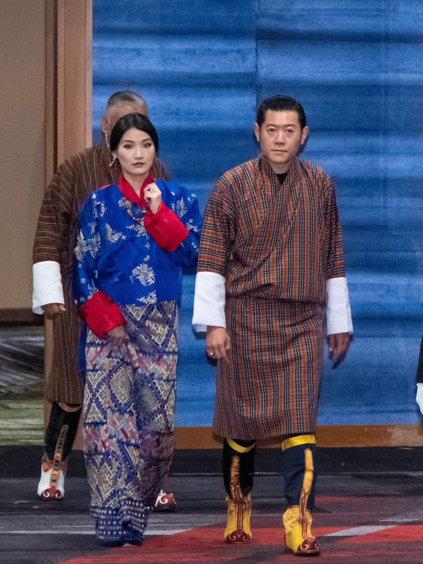 Los reyes de Bután, en la coronación de Naruhito de Japón. (EFE)