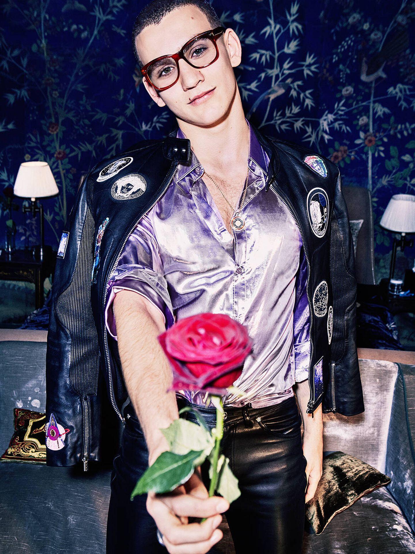 Gabriel Jagger como modelo para 'Vogue Italia' en su adolescencia. (Cortesía)