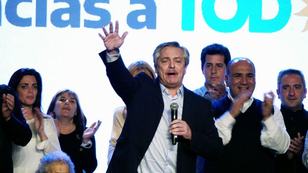 Foto: El peronista Alberto Fernández, tras la victoria. (EFE)