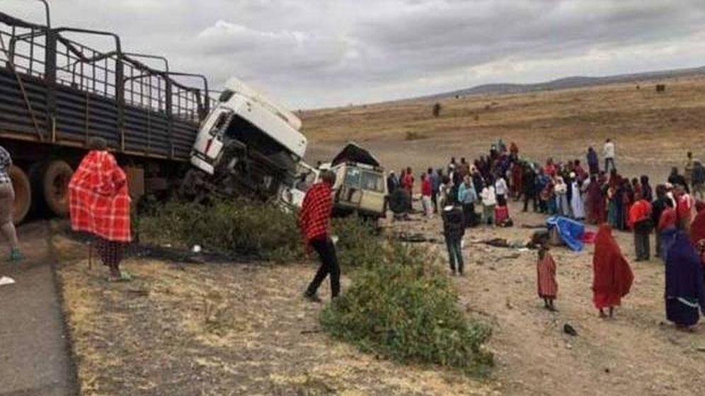Foto: Imagen de los momentos posteriores al accidente. (The Citizen)