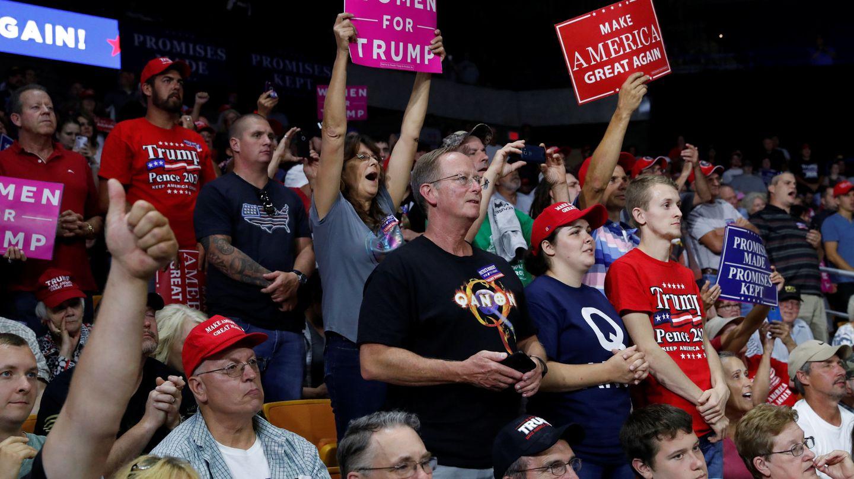Asistentes a un mitin reciente de Trump. (Reuters)