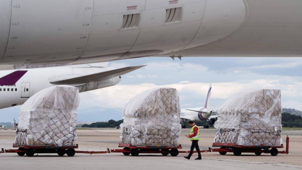 Llega a Madrid el segundo avión de China con 82 toneladas de material sanitario