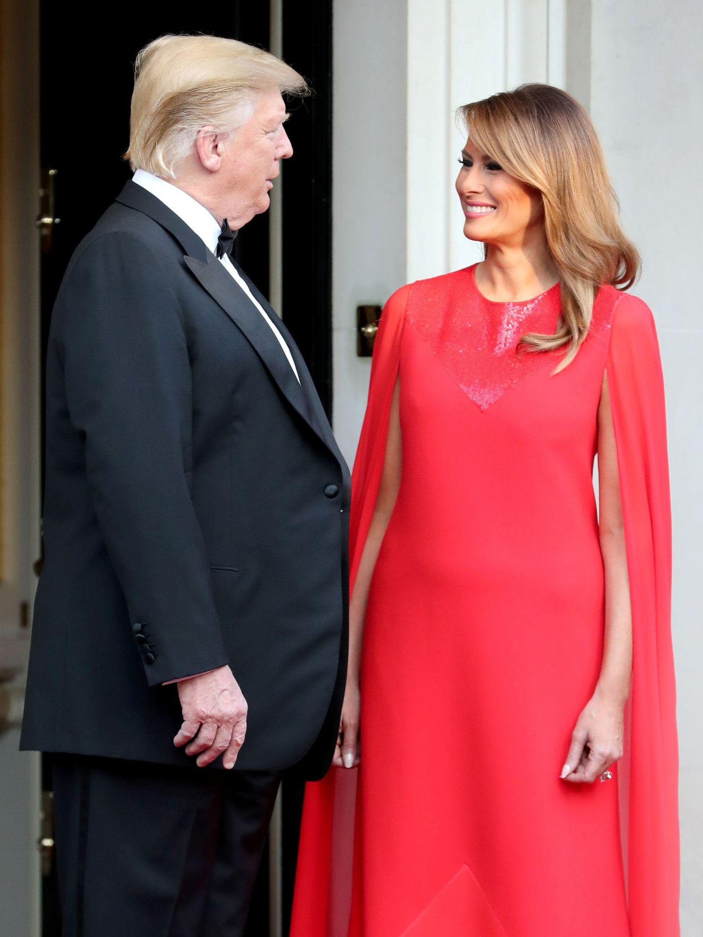 Melania y Donald. (Reuters)