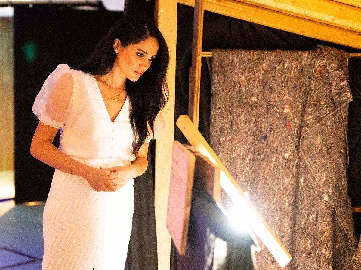 Foto: Meghan Markle, durante su visita al Teatro Nacional. (IG)