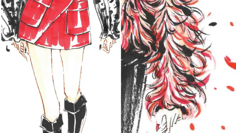 Boceto de la nueva colección de Shein. (Cortesía)