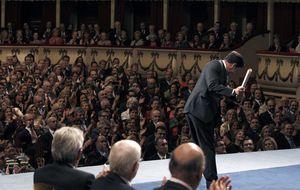 Olazábal lanza un 'swing' al recibir el Príncipe de Asturias