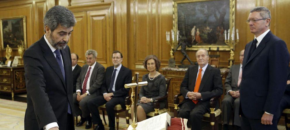 Foto: Carlos Lesmes jura su cargo como presidente del Tribunal Supremo y el Consejo General del Poder Judicial. (EFE)