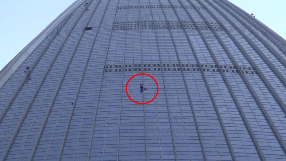 Detenido el 'Spiderman francés' en la planta 75 del edificio más alto de Corea del Sur