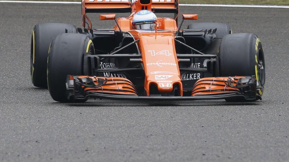 Foto: Alonso, en el GP de China. (Efe)