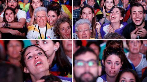 ¡¡Visca la república de Catalunya!! ... Ah, no. Del subidón al bajón en ocho segundos