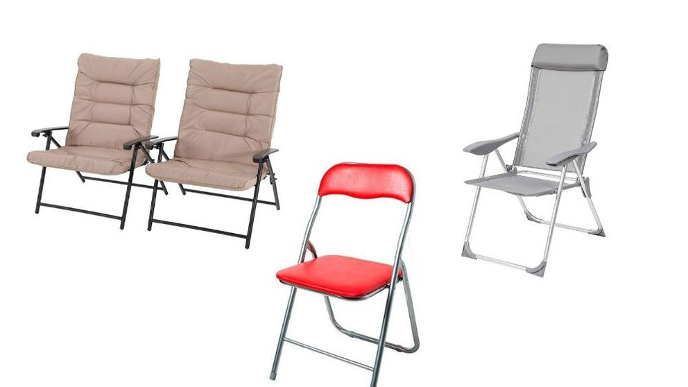 Sillas plegables para sentarse en casa y jardín