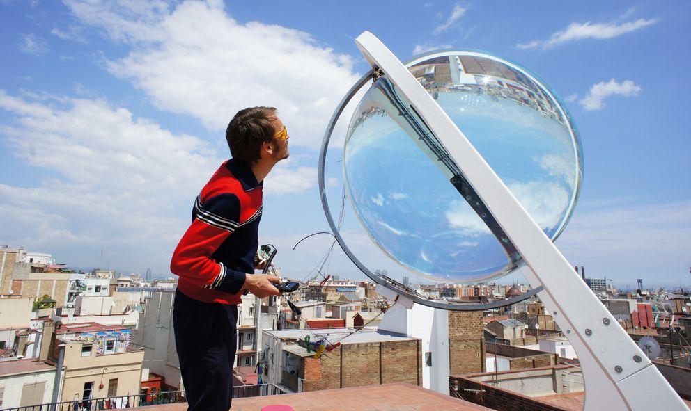 Foto: Prototipo del sistema instalado en una azotea de Barcelona