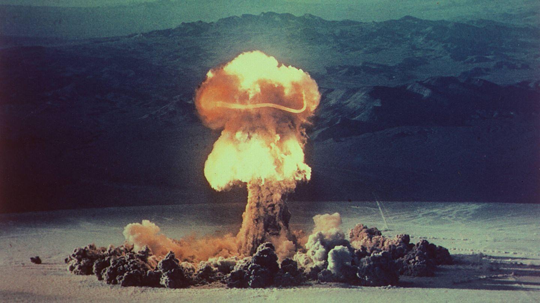 Un test nuclear en el desierto de Nevada