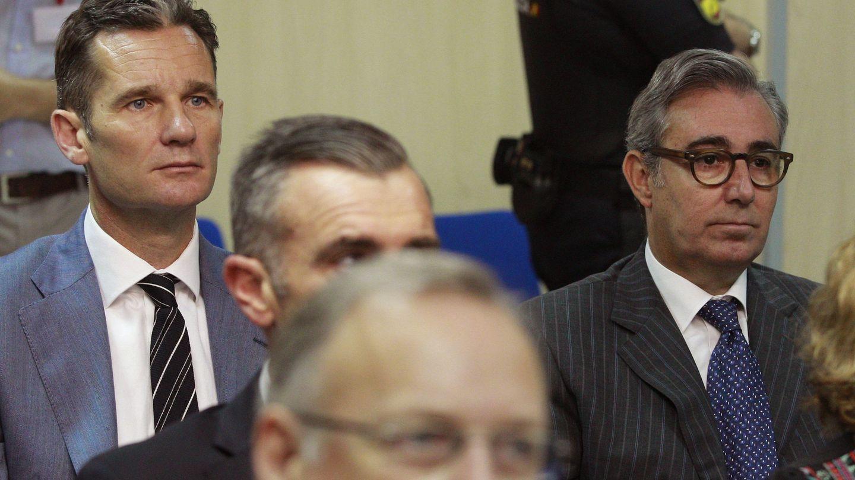 Iñaki Urdangarin y Diego Torres, en el juicio del caso Nóos. (EFE)