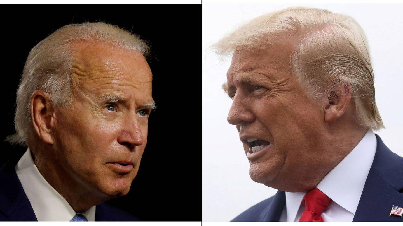 Joe Biden frente a Donald Trump. (Reuters)