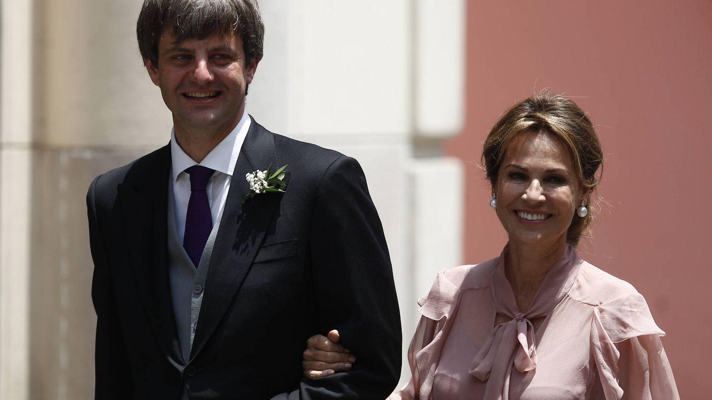 Ernst August y Elizabeth Foy Vásquez en la boda de Christian y Sassa de Osma. (Getty)