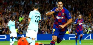 Post de El doblete del cuestionado Luis Suárez que salva al Barcelona en la Champions