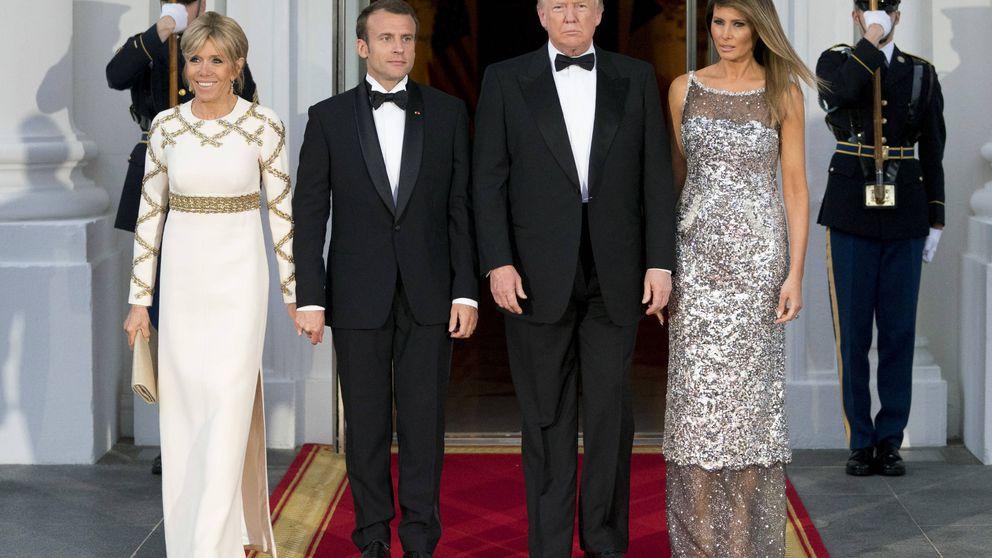 Analizamos los looks de Melania Trump y Brigitte Macron en la cena de Estado