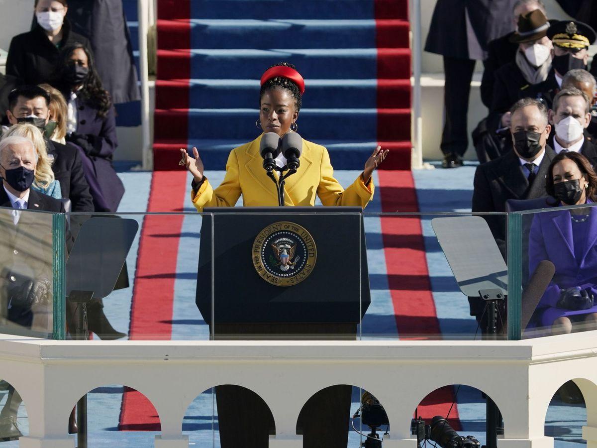 Foto: Amanda, en la ceremonia inaugural. (EFE)