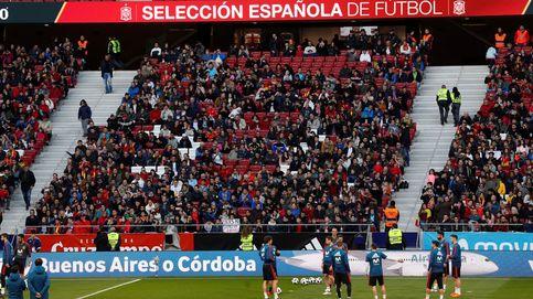 Fiebre por la selección en el Wanda Metropolitano: 15.000 espectadores en el entrenamiento