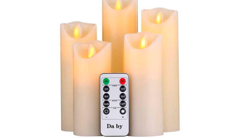 Luces LED Da by tipo vela para ocasiones especiales