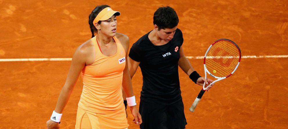 Muguruza y Suárez olvidan sus derrotas en individuales y se meten en 'semis' de dobles