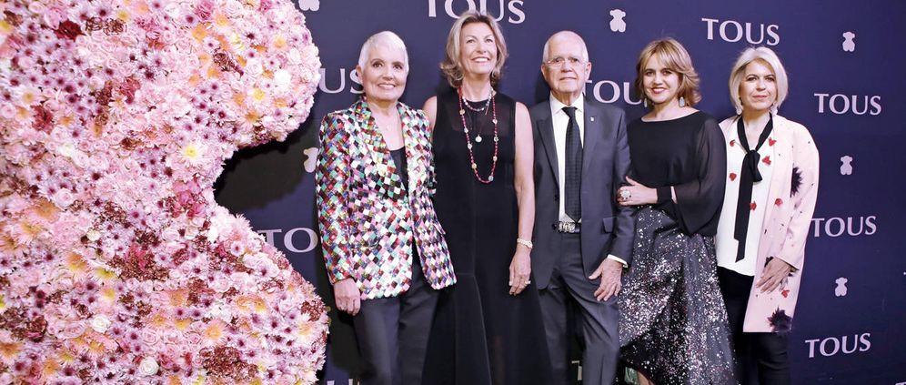 Foto: Rosa Oriol (izquierda) junto a Salvador Tous y sus hijas Rosa y Alba (a la derecha). (Agencia El Universal)