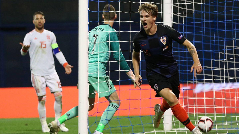 Uno de los goles de Croacia. (EFE)